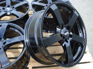 Jetta Golf GTI MKV Rabbit Passat EOS R32 Black 5x112 Wheel Rims