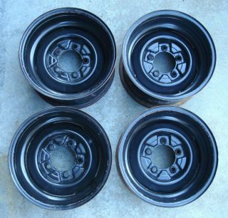 Set of 4 Vintage Steel Rims 15 x 8 5 x 5 5 Ford Chevy Rat Rod Merc