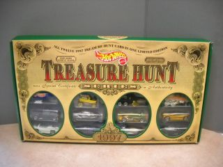 Hot Wheels 1997 Treasure Hunt 12 Car Set in Box 1 of 5000