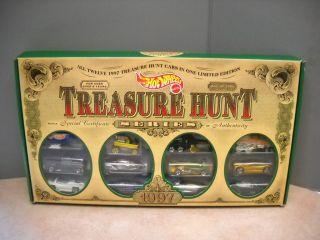 Hot Wheels 1997 Treasure Hunt 12 Car Set in Box 1 of 5000