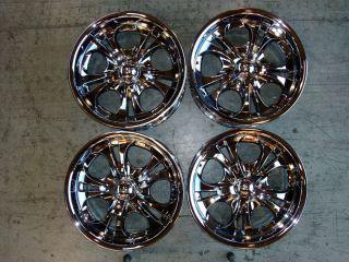 Four 18x9 Chrome American Eagle Boss 304 Wheels Rims