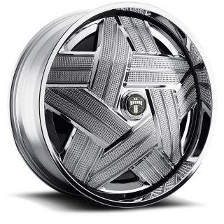 Crown Wheel Set Chrome Spinners 24x9 rwd 5 6 Lug Rims 24inch