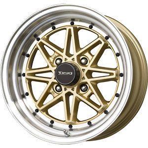 New 15x7 4x100 Drag Dr 20 Gold Wheels Rims