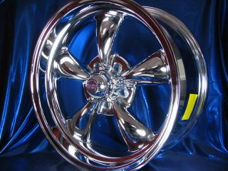 CHROME ALUMINUM REV CLASSIC 100 WHEELS RIMS FOR CHEVY IMPALA 1958 1970