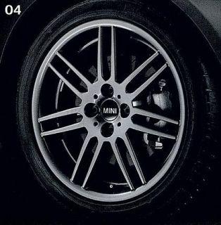 Mini Cooper 17 R99 Gray Double Spoke Rim Wheel New