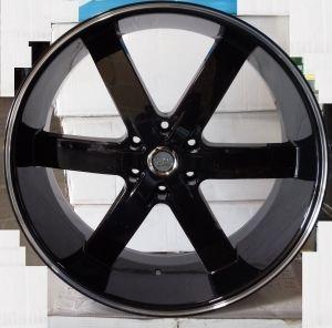 24 Black Wheels Tires 6x139 GMC Titan Armada Yukon New 295 35 24