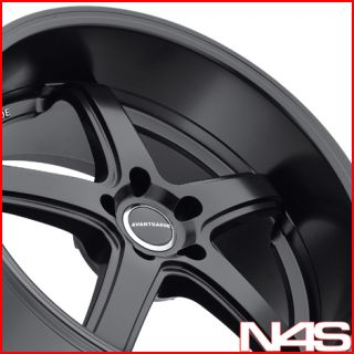 Sedan Avant Garde M350 Matte Black Staggered Lip Rims Wheels