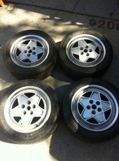 Ferrari 412 Alloy 5 Spoke Wheels Tires Michelin TRX 240 45ZR415