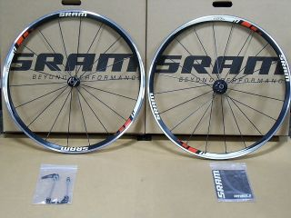 SRAM S27 AL Comp Clincher Wheelset Cycling 700c Wheels BLACK RED WHITE