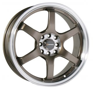 18 Raze R74 Staggered Wheel Rim Toyota Supra Non Turbo RX 7 Bronze