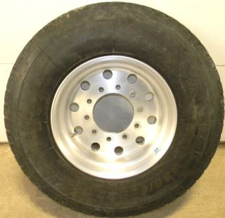 SAILUN S825 SUPER SINGLE SEMI TRUCK TIRE ALCOA RIM 385 65R22 5 22 5