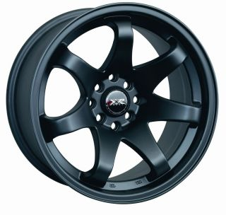 15 XXR 522 BLACK RIMS WHEELS 15x7 +25 4x114.3 DATSUN 510 280ZX 280Z