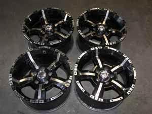 Rev Wheels 17x9 Black Silver 5x5 Lug 07 Jeep Commander