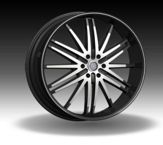 inch Velocity VW910B 26x9 5 Machined VW910B 26Wheel Rims Set
