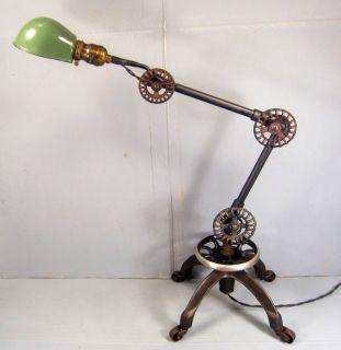Vintage Ball Jointed Cast Iron Base on Wheels Tumblemonkey®