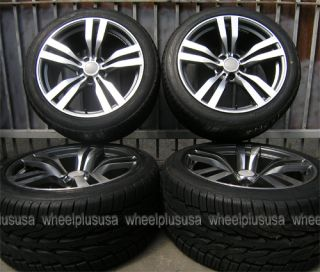 Sport M Style Staggered 5x120 Rims Wheels Tires Pkg 20x10 20x11
