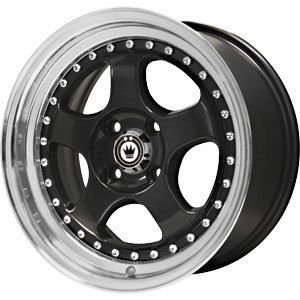New 16x7 4x100 Konig Candy Black Wheels Rims