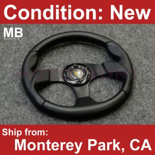Scion XA XB TX XD Smart 320mm Black Stitching Steering Wheel with JDM
