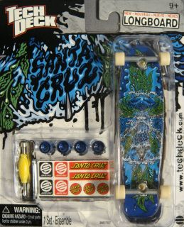 Tech Deck Santa Cruz Poseidon Longboard Fingerboard Skateboard 120mm
