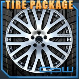 730 740 750 760 7 Series Hyper Silver Wheels Rims with Tires