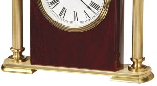 645 104 Rosewood Encore Bracket Howard Miller Tabletop Desk Top Clock