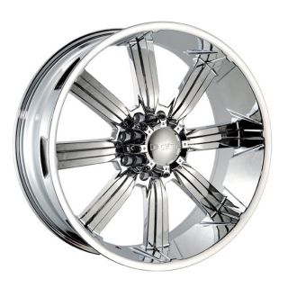26 DW 903 Chrome Wheels Rims 305 30 26 Tires 8 Lug Hummer H2 GMC