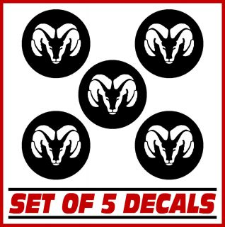 Wheel Center Cap Rim Overlay Decal Stickers Set of 5 Vinyl Decals Rims