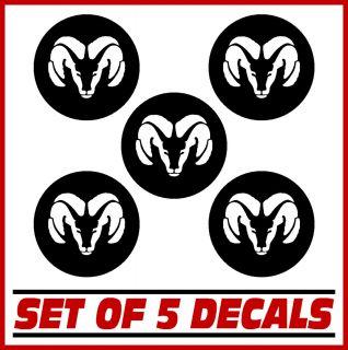 Wheel Center Cap Rim Overlay Decal Stickers Set of 5 Vinyl Decals Rims