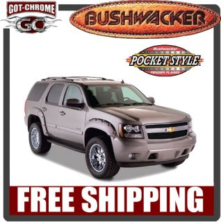 40937 02 Bushwacker Pocket Style Fender Flares Chevy Tahoe 2007 2012