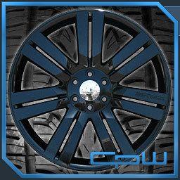 Silverado Suburban Tahoe 24 Rims and Tires Package Pre Balanced Black