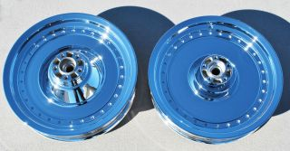 Softail Fatboy 2000 2006 Chrome Wheels Rims Exchange Sale FLAW