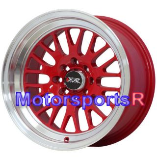 15 15x8 XXR 531 RED ET 20 Rims Wheels Deep Dish Lip Stance 4x100 Honda