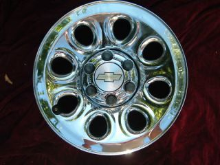 Chevy GMC 1500 Sierra Silverado Van Chrome Wheel Rim 17