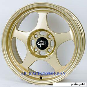 15 Rota Rims Slipstream Gold Civic Integra CRX Sentra