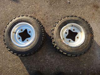 LTZ400 Z400 Z 400 KFX400 Front Wheels Rims Tires