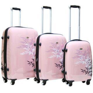 3pc 4WD Rolling Luggage Set 360° TSA Travel Spinner Wheeled Suitcase