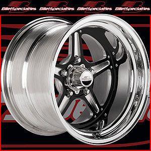 Billet Specialties BRS035156535 Street Lite Black Race Wheel Size 15