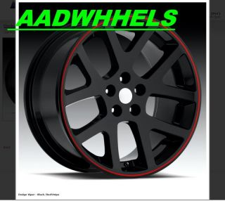 22 Viper SRT8 Charger Magnum 300C Wheel Rim Tire Black
