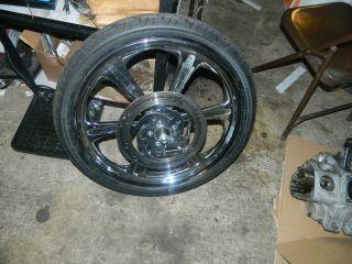 00 07 Harley Softail 21 Inch Custom Billet Weld Wheel Complete Brand