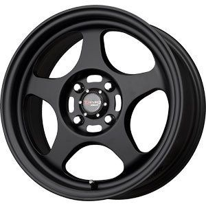 New 16x7 4x100 Drag Dr 23 Black Wheels Rims