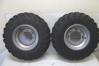 Polaris Scrambler 400 4x4 ATV Front Tires Wheels 02 2002