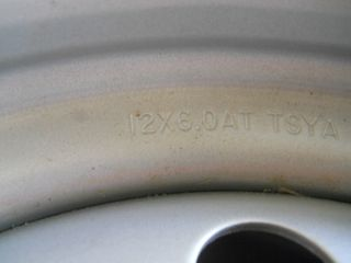 Foreman Rincon Rancher Yamaha Gray Steel Rim Wheel Front 12x6