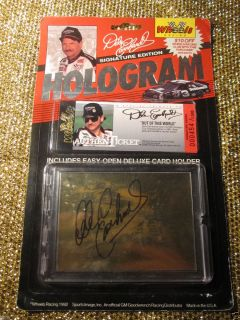 Dale Earnhardt 1992 Wheels Signature Hologram Card 454 1500 Autograph