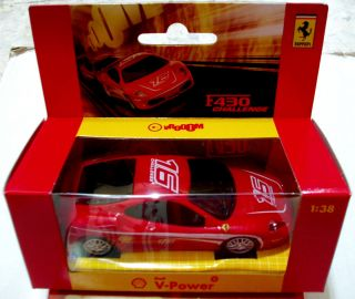 Shell Hot Wheels Mattel Ferrari F430 Challenge Car Model 1 38 Limited