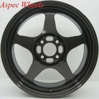 15x6 5 Rota Slipstream Rim 4x100 Wheels Fits 4 Lug Civic CRX XA XB Fit