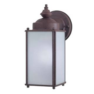 "Antique Bronze 10 1/4"" High Frosted Glass Outdoor Light   #19983"