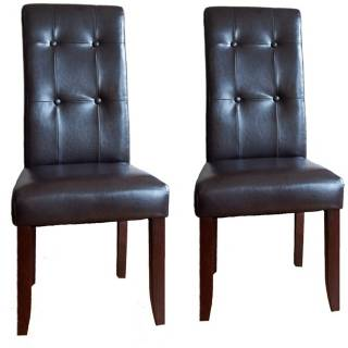 Set of 2 Cosmopolitan Deluxe Tufted Parsons Dining Chairs   #Y6535