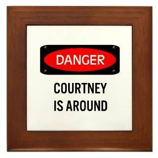 Courtney Name Design Framed Art Tiles  Buy Courtney Name Design