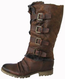 Boutique 9 Womens Trystin Leather Buckle Boots