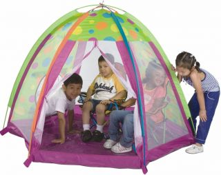 Pacific Play Kids Fun Zone Tent w Tunnel Hole Two Side Panels 19305